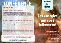 Conférences : Ces énergies qui nous influencent.