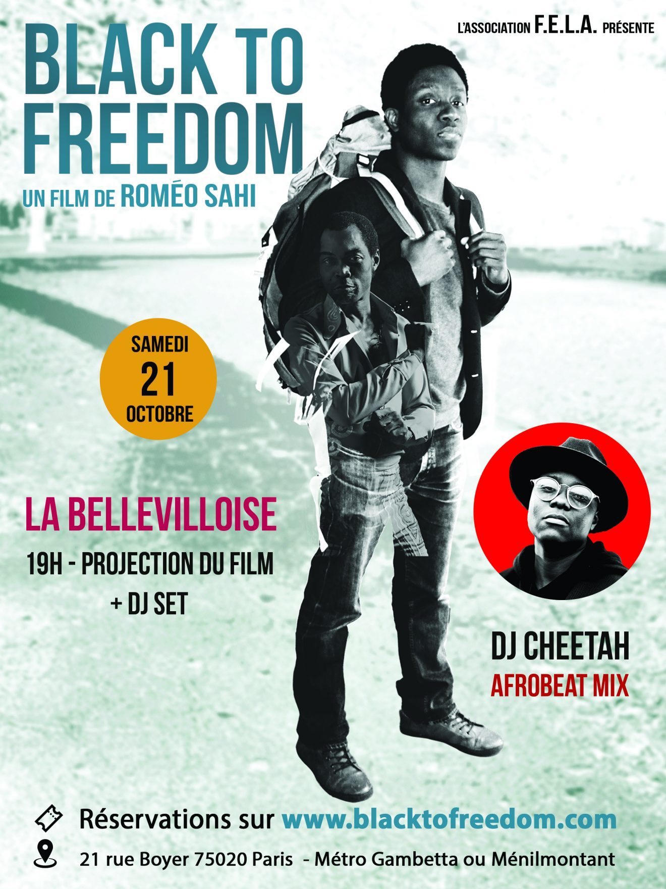 Black to freedom projection de film